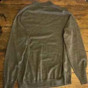 Murano Sweaters Mens Wool Mock Turtleneck Sweater Brown L Poshmark